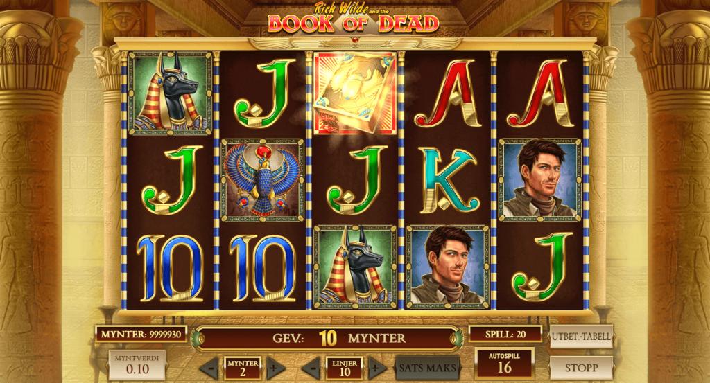 Spille Book of Dead på nett