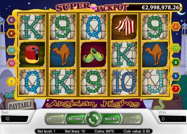 Arabian Nights - Spilleautomat med jackpot fra NetEnt