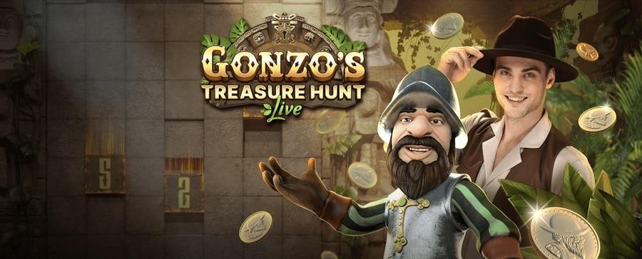 Gonzo's Treasure Hunt Live Casino er her